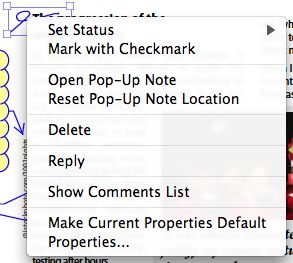 The context menu is a quick way to set new defaults for any object.
