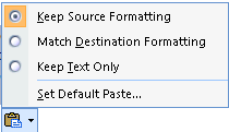 Get rid of the annoying formatting pop-up when you paste in Word