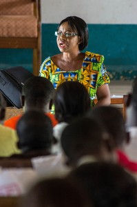woman lecturer in Africa