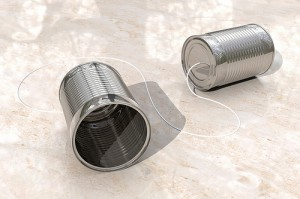tin can phones by StockMonkeys-com