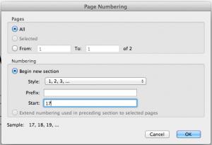 Acrobat Pro9 page # setting box