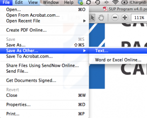 PDF save as text