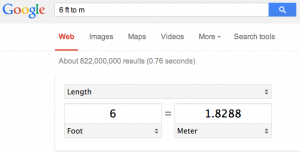Google measure converter