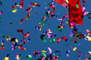 confetti canon by Jeffery DelViscio CC by-nd 2.0 license