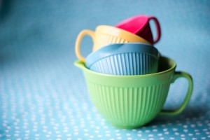 colourful measuring cups