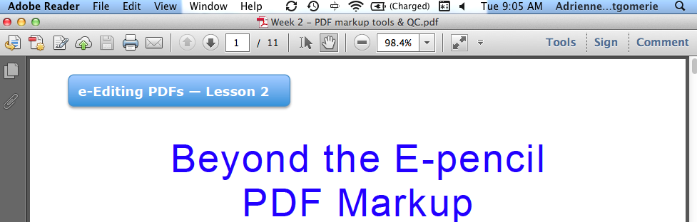 Common snag with Adobe Reader for proofreading