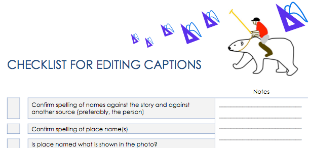 caption checklist
