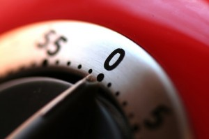 red kitchen timer by Nicolas Will