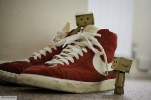 photo of mini cardboard figurines with high-top shoes by Ben Mortimer used under CC BY-2.0 license