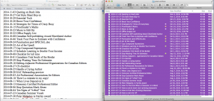 screen capture of files selected in finder and pasted in Word