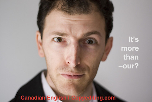 It's about More Than –our, Eh? Canadian Spelling Update