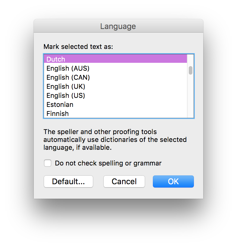 How to Set Word's Language Preference for Spell Check