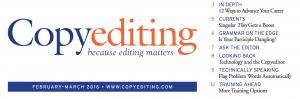Copyediting Newsletter Feb-Mar 2016