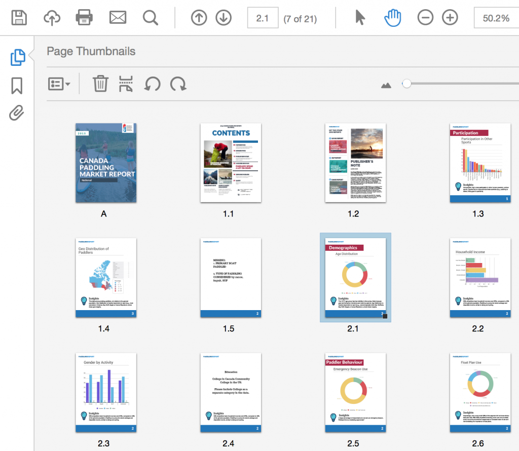 renumbered PDF pages example, Acrobat DC