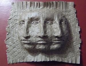 triplet face woven paper mask