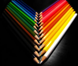 sorted colored pencils by Schristia used under CC BY-SA 2.0 license