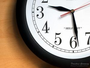 backward clock closeup