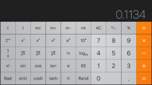 calculator showing the numbers that spell out hello when turned upside down