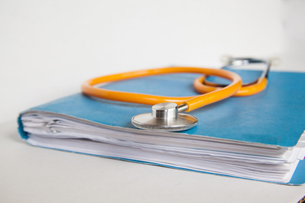 stethoscope on papers