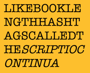an example of text without spaces between letters, otherwise known as scripta continua