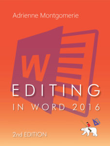 cover of Editing in Word 2016 2nd ed
