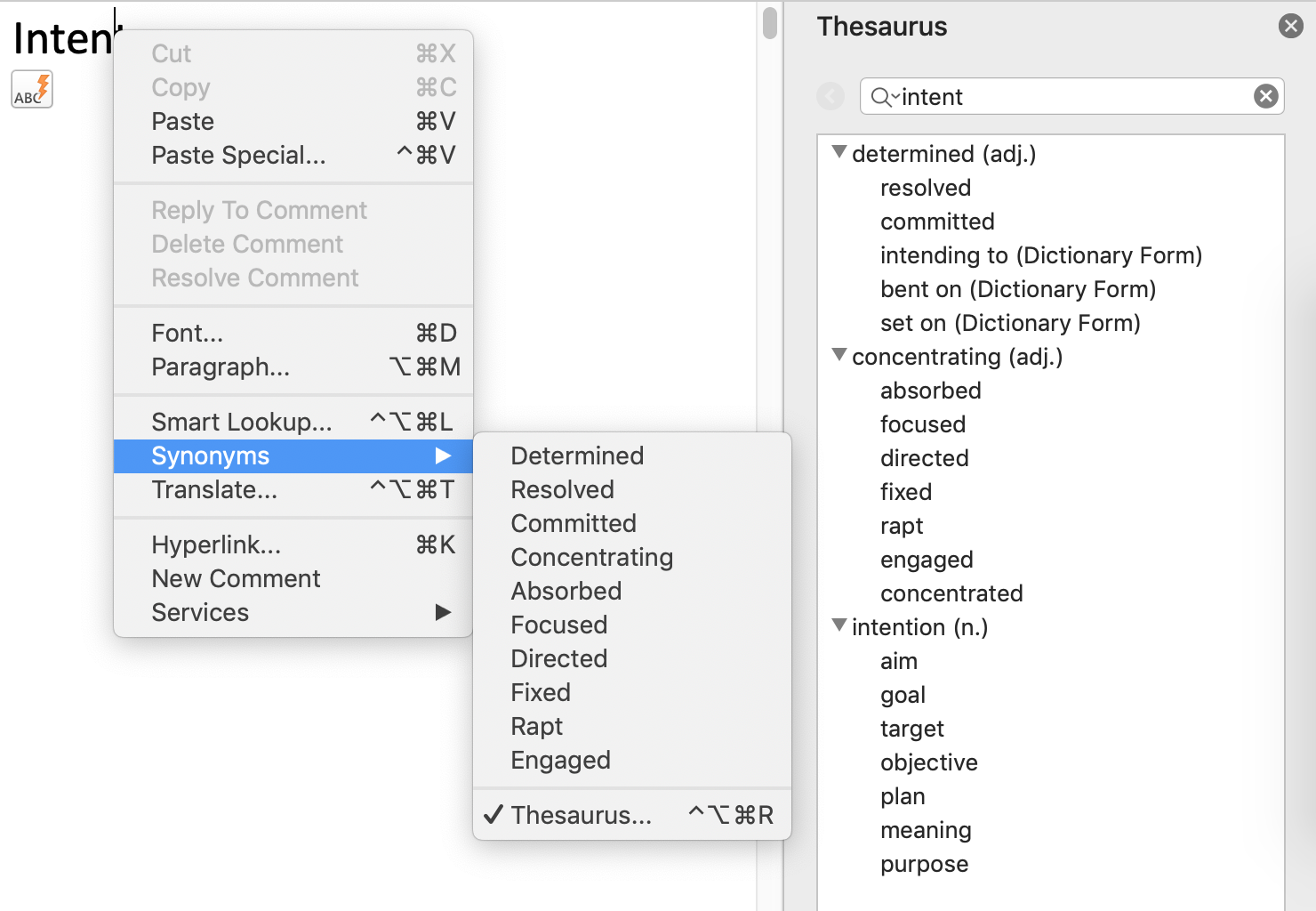 Thesaurus Magic in MS Word